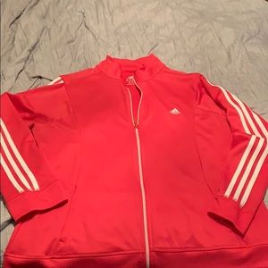 Adidas zip up track/workout jacket